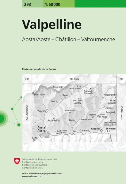 293 Valpelline topographische Wanderkarte Schweiz 1:50.000