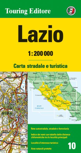 Latium Straßenkarte 1:200.000, TCI 10, Lazio