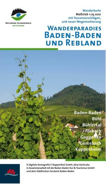 Baden-Baden & Rebland Wanderkarte 1:25.000 – Bl. 608 von Ruppenthal