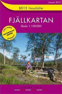 Fjällkartan BD15 Schweden Trekking- und Wintersportkarte 1:100.000