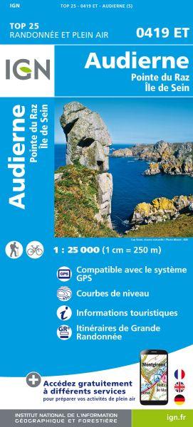 IGN 0419 ET Audierne, Pointe du Raz, Frankreich Wanderkarte 1:25.000