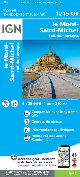 IGN 1215 OT Le Mont-St-Michel, Frankreich Wanderkarte 1:25.000