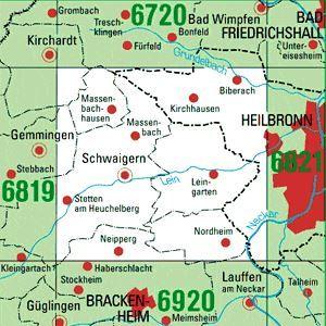 6820 SCHWAIGERN topographische Karte 1:25.000 Baden-Württemberg, TK25