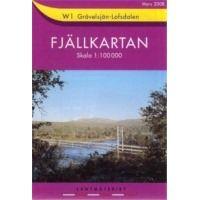 Fjällkartan W1 Schweden Trekking- und Wintersportkarte 1:100.000