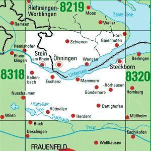 8319 ÖHNINGEN topographische Karte 1:25.000 Baden-Württemberg, TK25