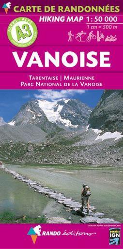 Rando Blatt A3, Vanoise Wanderkarte 1:50.000