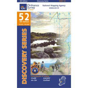 OSI 52 Clare, Galway, Wanderkarte