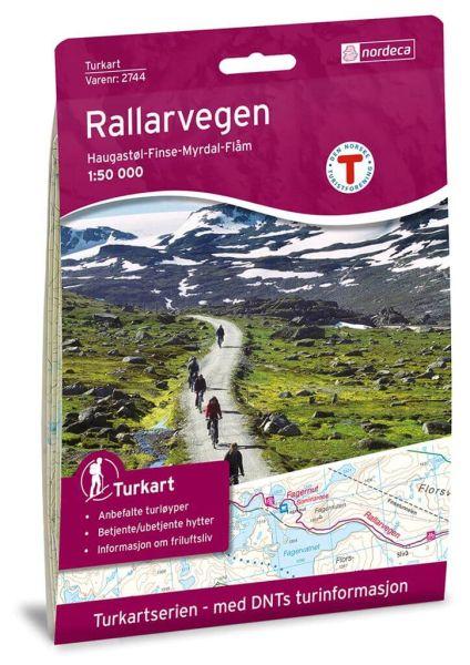 Rallarvegen Wanderkarte 1:50.000 – Norwegen, Turkart 2744 von Nordeca