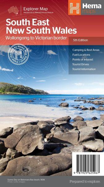 HEMA Regional Map South East New South Wales 1:385.000