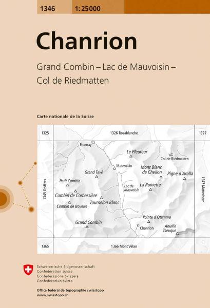 1346 Chanrion topographische Wanderkarte Schweiz 1:25.000