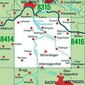8415 KÜSSABERG-DANGSTETTEN topographische Karte 1:25.000 Baden-Württemberg, TK25