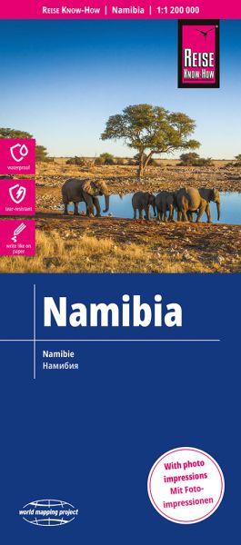 Namibia Landkarte 1:1.200.000, Reise Know-How