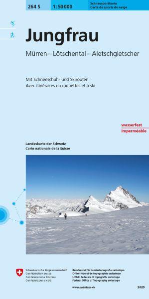 264 S Jungfrau, topographische Skitourenkarte 1:50.000