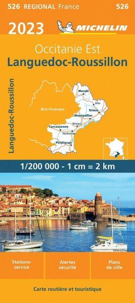Michelin regional 526 Languedoc-Roussillon wetterfeste Karte 1:200.000