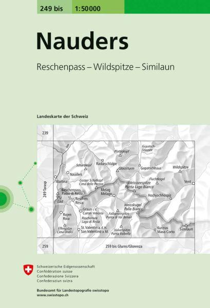 249 bis Nauders topographische Wanderkarte Schweiz 1:50.000