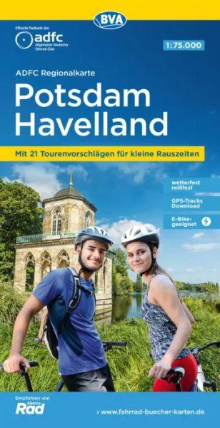 ADFC-Regionalkarte, Potsdam - Havelland Radwanderkarte 1:75.000