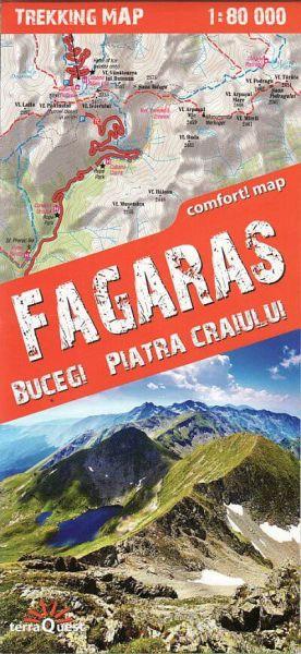 TerraQuest Fagaras-, Bucegi-, Piatra Craiului-Gebirge Trekking Map 1:80.000