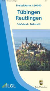 Tübingen, Reutlingen Freizeitkarte in 1:50.000 - F523 mit Rad- und Wanderwegen