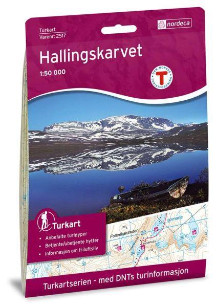 Hallingskarvet Wanderkarte 1:50.000 – Norwegen, Turkart 2517 von Nordeca