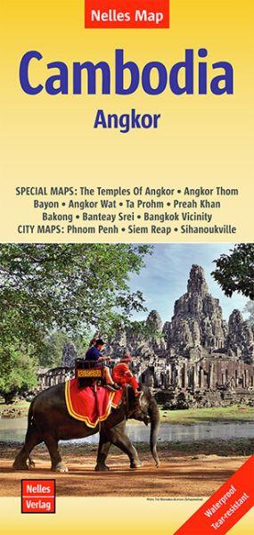 Nelles Maps, Kambodscha - Angkor 1:1.500.000, wasser- und reissfest