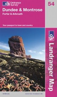 Landranger 54 Dundee & Montrose, Großbritannien Wanderkarte 1:50.000