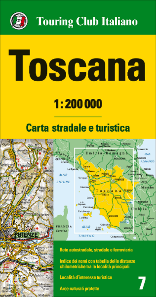 Toskana Karte Deutsch.Toskana Strassenkarte 1 200 000 Tci 7 Toscana