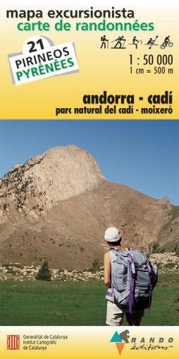 Rando Blatt 21, Andorra-Cadi, Wanderkarte Pyrenäen 1:50.000