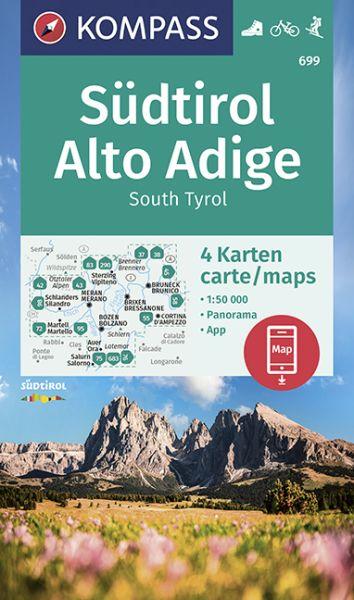 Kompass Karten Set 699, Südtirol / Alto Adige 1:50.000, Wandern