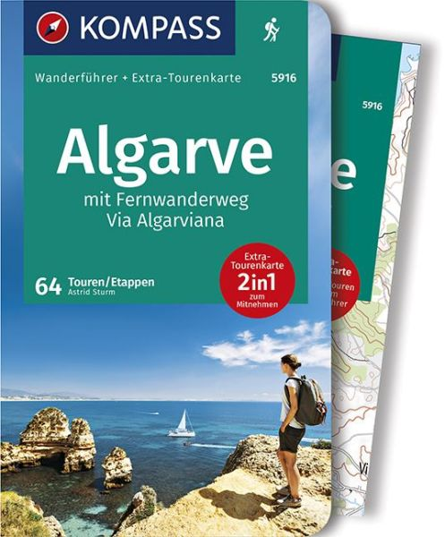 Algarve mit Fernwanderweg Via Algarviana mit Karte, Kompass Wanderführer
