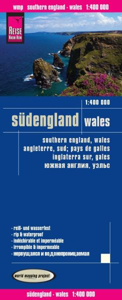 Südengland, Wales Landkarte 1:400.000, Reise Know-How