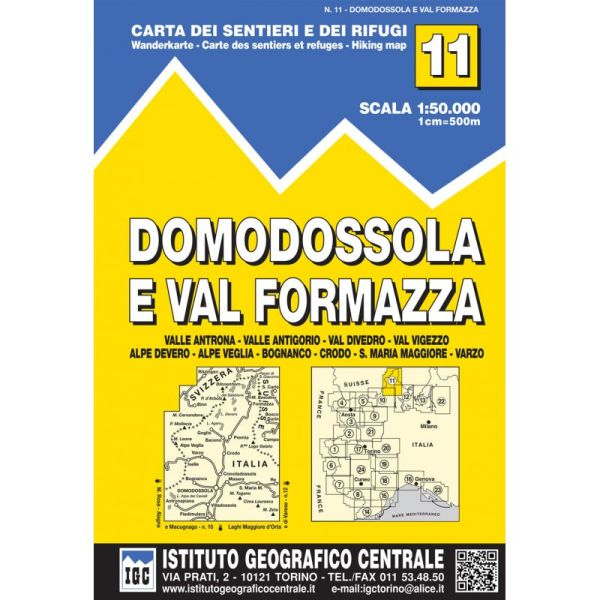 IGC 11 – Wanderkarte für Domodossola e Val Formazza 1:50.000