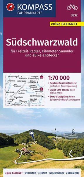 Kompass Fahrradkarte 3332 Südschwarzwald 1:70.000