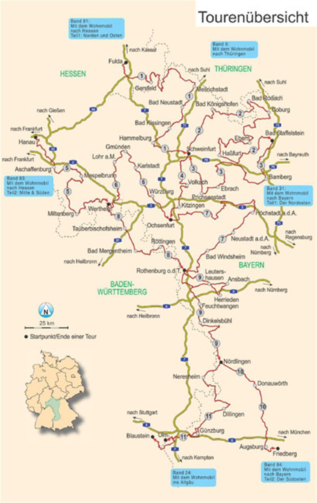 Mit dem Wohnmobil nach Bayern - Nordwesten vom Womo-Verlag