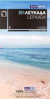 Lefkada Wanderkarte 1:40.000 - Griechenland (Ionische Inseln) Terrain Maps 351