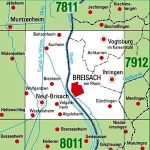 7911 BREISACH A.RHEIN topographische Karte 1:25.000 Baden-Württemberg, TK25