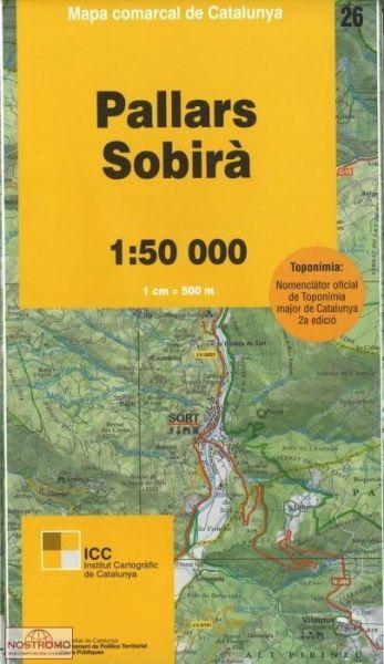 Pallars Sobira (Pyrenäen), Katalonien topographische Karte 1:50.000, ICC 26