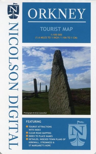 Orkney Inseln touristische Straßenkarte 1:100.000, Nicolson Maps