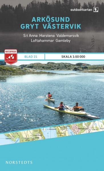 Arkösund - Gryt - Västervik, Outdoorkartan Blatt 21, Schweden Wanderkarte 1:50.000