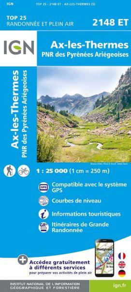 IGN 2148 ET Ax-les-Thermes, Frankreich Wanderkarte 1:25.000