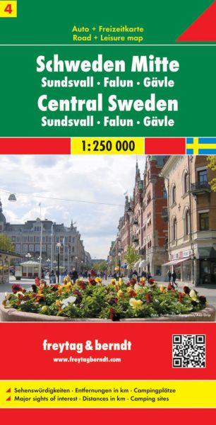 Schweden Mitte, Straßenkarte 1:250.000, Freytag und Berndt