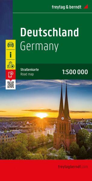 Deutschland, Straßenkarte 1:500.000, Freytag und Berndt