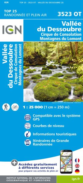 IGN 3523 OT Vallee du Dessoubre, Frankreich Wanderkarte 1:25.000