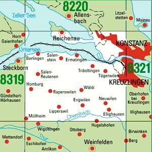 8320 KONSTANZ WEST topographische Karte 1:25.000 Baden-Württemberg, TK25