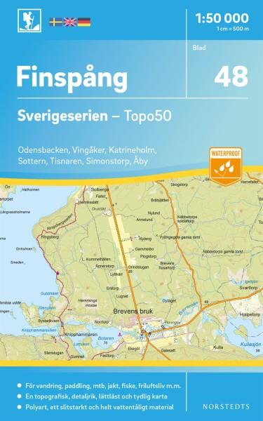 Finspång Wanderkarte 1:50.000, Schweden Topo50 Blatt 48