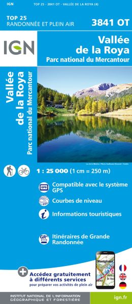 IGN 3841 OT Vallée de la Roya, Frankreich Wanderkarte 1:25.000