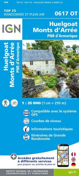 IGN 0617 OT Huelgoat, Monts d'Arree, Frankreich Wanderkarte 1:25.000