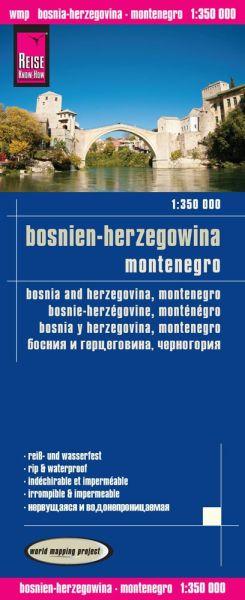 Bosnien-Herzegowina, Montenegro Landkarte 1:350.000, Reise Know-How