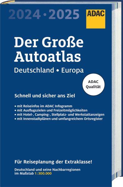 Der Große Autoatlas Deutschland/Europa, 1:300.000/1:750.000, ADAC