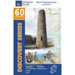 OSI 60 Kilkenny, Laois, Tipperary Wanderkarte 1:50.000