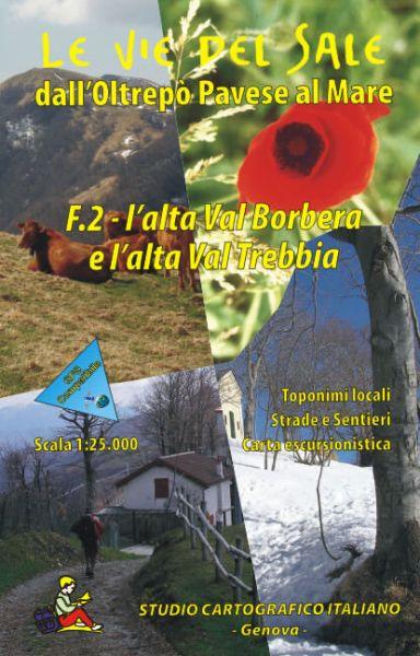 Ligurien Wanderkarte: F.2 L'alta Val Borbera e l'alta Val Trebbia 1:25.000